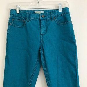 Free People Blue Skinny Jeans Size 25